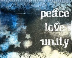 peace love unity by fourteenthstar
