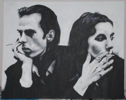 Nick Cave and PJ Harvey by Nixi-lala