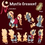 Commission: Mystic Crescent Ref Sheet by EmR0304