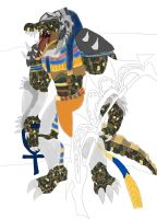 Renekton as egyptian god sobek gir ider work 3 by daylover1313