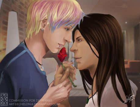 Com:Smell this rose, it's bomb by Echelon-X