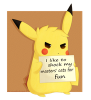 Pokeshaming Pikachu by LunaticLily13