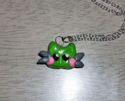 Chibi Kitty Necklace by StCoraline