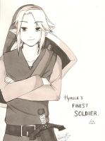 Hyrule's finest soldier. by thebumblebee01