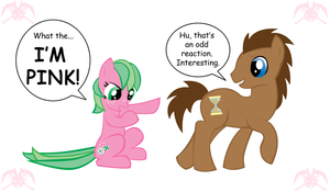 MLP: Pinky-Mint and the Doctor by KPenDragon