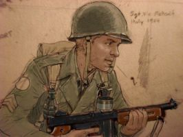 sgt. vic italy ww2 by JesusFood