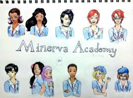 Minerva Academy Student Sketches w/ color by SilvianArt
