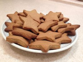 Honey Graham Cookie Stars by LemonIceCandy