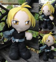 Commission, Mini Edward Elric by ThePlushieLady