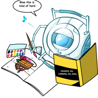 Wheatley the Artist by MP by Artemis-Phoenix