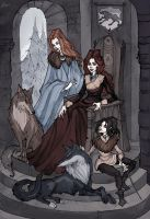 Stark Family: Ladies by IrenHorrors