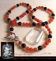 Dragon Keeper Mens Necklace by 1337-Art