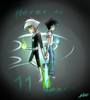 Heres to 11 years~ happy Danniversary by MidnightsBloom