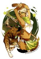 GaiaOnline: Riola the Wildcat Spirit by finni