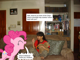 Pinkie Pie loves Chips Ahoy cookies and thanked me by Magic-Kristina-KW