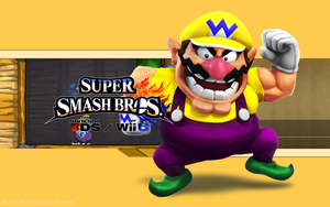 Wario Wallpaper (2) - Super Smash Bros. WiiU/3DS by AlexTHF
