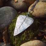 Nature Lover - Heart-Shaped Fern Pendant by QuintessentialArts