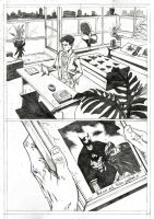 Teen Titans Page 1 Sample - A3 pencil by IgorChakal