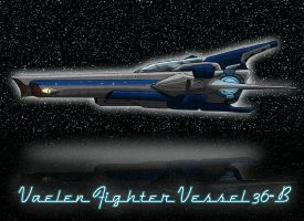 Vaelen Fighter Vessel Concept by iamherecozidraw