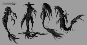 Warrior Mermaid sketches by Tr1gg3r117