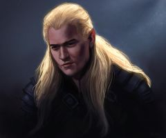 Speedpainting: Legolas by ReneAigner