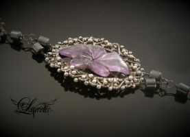 Dark flower bracelet 2 by Laurelis
