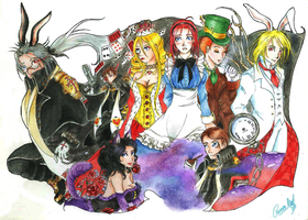 Trinity Blood - Esther in Wonderland by Kharen94th