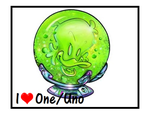 Uno/One Stamp by CatDasher