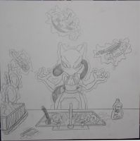 14 Mewtwo Does the Dishes by AngstyGuy
