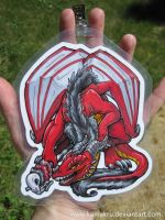 Red Dragon Full Detail Badge by Kamakru