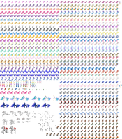 MLP: RCS Charater Sprite Sheet by ChurchCrusade