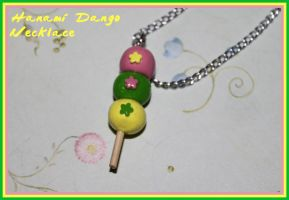 Dango Dumpling Charm Necklace by picklelicker129