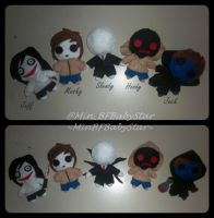 Creepypasta Plushies by MinBFBabyStar