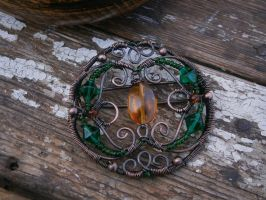 Brooch - Custom Order by twistedjewelry