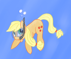 Applejack Underwater by MartinHello