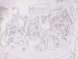 Drinkin contest sketch by GoblinHordeStudios
