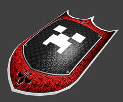 red creeper shield low poly by ELB89CRASH
