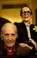 Sir Christopher Lee  and his wife Birgit Kroencke by miha9000