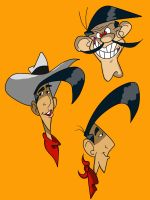 Lucky Luke Sketches by Loko-Motion