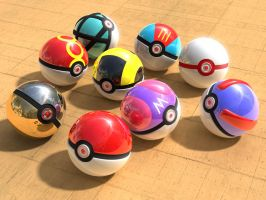 Pokeballs_more models by BionicleGahlok