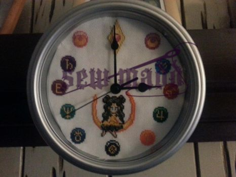 Sailor Moon Token Clock by Sew-Madd