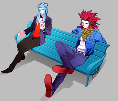lea and saix by ineedsomecake