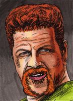 Abraham from The Walking Dead PSC ACEO by shakeyspear