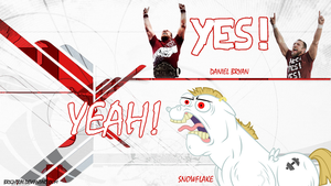 Snowflake YEAH! and Daniel Bryan YES! by brightrai