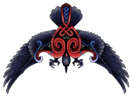 Crow celtic tatoo by Nidzo