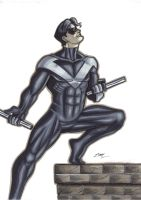 Nightwing Marker Sketch by em-scribbles