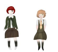 Koizumi and Chihiro clothes Swap by maesday