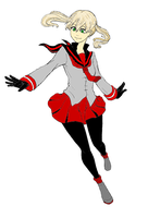 Maka Line Art ~ Colored by zzzzenzy