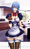 REI AYANAMI MAID by IDarkShadowI