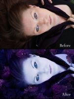 Nightfall before and after by CassiopeiaArt